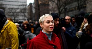 Actor Rose McGowan: 'I realise that by critiquing someone personally, I lost sight of the bigger picture.' Photograph: Johannes Eisele/AFP via Getty Images