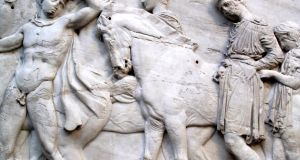 Section of a frieze of the ancient Elgin Marbles (Parthenon Marbles) from the Acropolis in Athens, which were acquired for the British Government in 1816 by Lord Elgin. Photograph: iStock