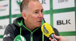 Connacht head coach Andy Friend will be without Dave Heffernan, Ultan Dillane and Gavin Thornbury on Friday night. Photograph: James Crombie/Inpho