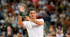 Roger Federer: out until Wimbledon at least. Photograph: Rodger Bosch/AFP via Getty