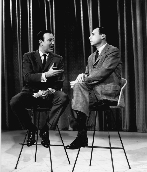 Carl Reiner and Mel Brooks on The Ed Sullivan Show in 1961. Photograph: CBS via Getty