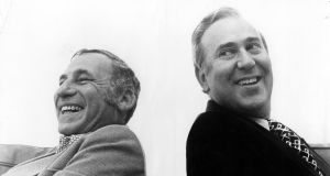 Mel Brooks and Carl Reiner  in 1974. Photograph: Michael Ochs Archives/Getty