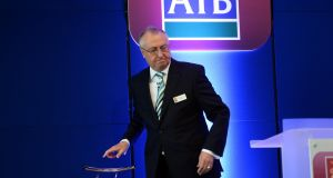 Richard Pym, AIB's chairman, who is to step down next month