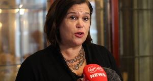 Sinn Féin president Mary Lou McDonald: Asked if the IRA still exists, even as a political organisation, she said: 'No, it does not, so far as I am aware, no, it does not.' Handout photograph: Sinn Féin/PA Wire