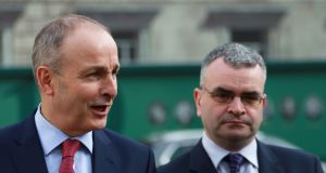 Cabinet trophies: Micheál Martin and his deputy Dara Calleary would be in the frame first for Fianna Fáil. Photograph: Nick Bradshaw
