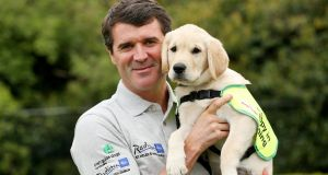 Roy Keane has been a longtime supporter of the  Irish Guide Dogs for the Blind. Photograph: Billy Stickland/Inpho