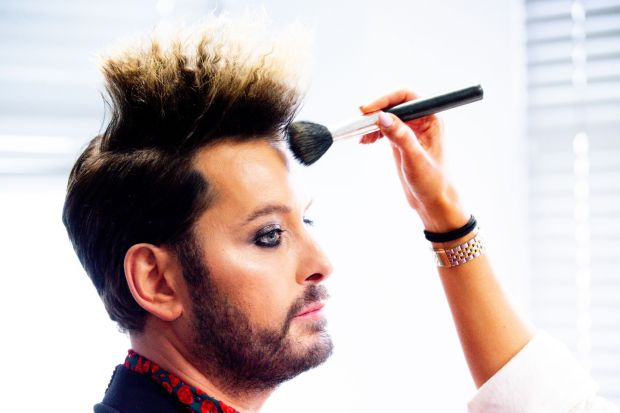 Brian Dowling at the pre-show make up. Photograph: Tom Honan / The Irish Times