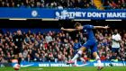 Chelsea's Marcos Alonso scores his team's second goal during their win over Spurs. Photograph: Ian Kington/Getty/AFP