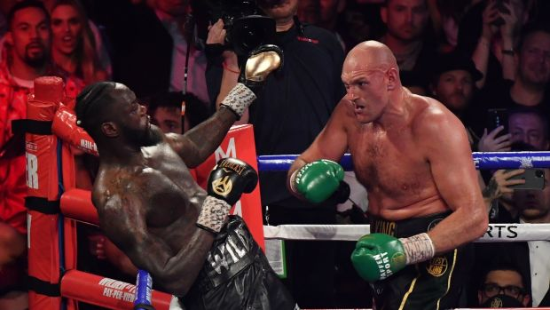 Tyson Fury stopped Deontay Wilder in the seventh round in Las Vegas. Photograph: Mark Ralston/Getty/AFPB