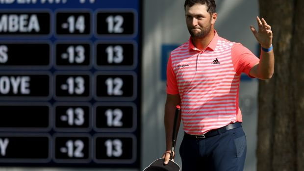 Jon Rahm shot a third round of 61 in Mexico. Photograph: Rob Carr/Getty