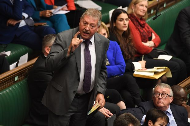 DUP MP Sammy Wilson: 'Physical links and major infrastructure projects like this all over the world are judged not only on their economic benefits but on their political benefits, including how they integrate countries.' Photograph: Jessica Taylor/UK Parliament/AFP via Getty