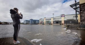 Flooding in Carrick-on-Shannon, Co, Leitrim. Photograph: Brian Farrell/The Irish Times