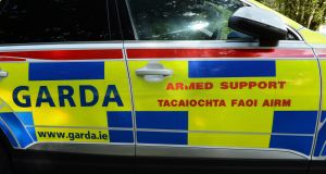 A rifle, a hunting knife and a number of rounds of ammunition were seized following the incident. Photograph: Cyril Byrne/The Irish Times