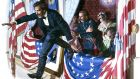 A painting depicting the assassination of Abraham Lincoln by John Wilkes Booth. Illustration: Ed Vebell/Getty