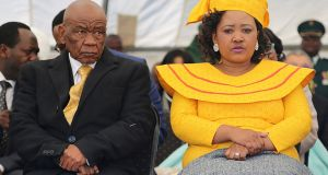 Lesotho prime minister Thomas Thabane and his wife, Maesaiah. Photograph: Samson Motikoe/AFP via Getty