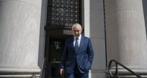 Former developer Sean Dunne leaves court in New Haven, Connecticut. Photograph: Douglas Healey