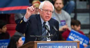 """The Sanders surge is  placing pressure on the remaining candidates to consider their positions. The lowest-ranking candidates such as Amy Klobuchar, billionaire Tom Steyer, and Tulsi Gabbard are still in the race.""  Photograph: Michael B Thomas/AFP/Gett"