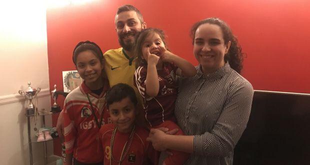 Lucivaldo Araujo da Silva (35), Danielle Martins Ribeiro, Stephany Bianka Martins Ribeiro (12), Bryan Martins Araujo (9) and Nicole Martins Ribeiro (2), back home in Athenry, Co Galway.