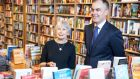 Dubray Books owner Gemma Barry and Liam Hanly, chief executive of Eason, pictured at the announcement of their deal.