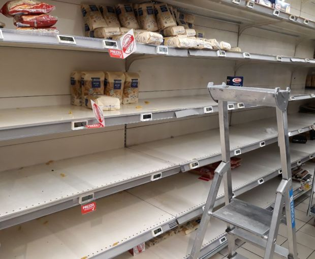 Aisling Sullivan: 'I went to our local supermarket this morning, and there was nothing left on some of the shelves'