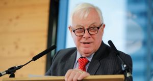 Chris Patten delivered a lecture in Dublin in honour of the late businessman and statesman Peter Sutherland. File photograph: Tolga Akmen/AFP via Getty