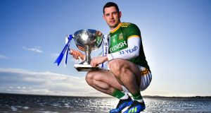 Meath footballer Donal Keogan at  Allianz Ireland's announcement of a five-year extension of its partnership with the GAA as title sponsor of the Allianz Football and Hurling Leagues on Tuesday. Photograph: Brendan Moran/Sportsfile
