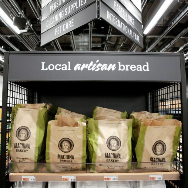 Amazon Go Grocery. Photograph: Jason Redmond/Reuters