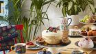 Tea, cakes and attractive ceramics make for an ideal tea party.