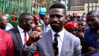 The Ugandan musician turned politician, Robert Kyagulanyi also known as Bobi Wine. Photograph: Reuters/Abubaker Lubowa
