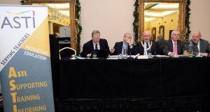 The ASTI central executive meeting in Dublin. Photograph: Eric Luke / The Irish Times