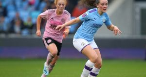 Tyler Toland:  has found it difficult to break into the star-studded Manchester City Women's side. Photograph:  Alex Livesey/Getty Images