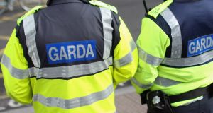 Gardaí said a window was smashed during the  incident