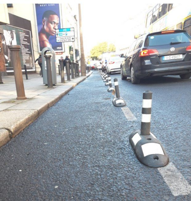 "The new cycle route will be marked out using temporary bollards, known as ""wands""."
