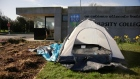 UCD students pitch tents on campus to protest rent hikes
