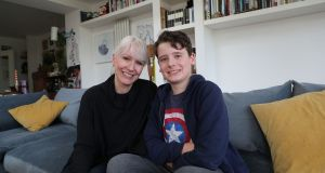 Rachel Prendergast Spollen and her son Hunter (12). Rachel's son Hunter has autism and is high-functioning  and has the support of a special needs assistant. Photograph: Nick Bradshaw/The Irish Times