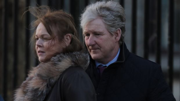 Philip Fenton and wife, Patricia Hogan, pictured leaving the Four Courts on Thursday. Photograph: Collins Courts