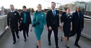 Aer Lingus saw increases in capacity on routes to San Francisco, Seattle and Philadelphia. Photograph: Dara Mac Dónaill