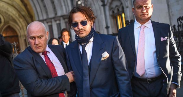 Johnny Depp leaves London's high court. Photograph: Peter Summers/Getty