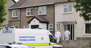 Garda technical officers arrive at  Patricia O'Connor's home in Mountainview Park, Rathfarnham, following her murder. Photograph: Stephen Collins/Collins.