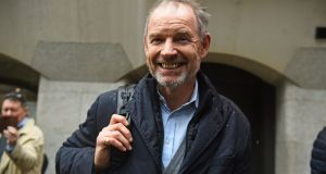 Richard Boath outside the Old Bailey  after he and two other former Barclays senior executives, Roger Jenkins and Thomas Kalaris, were acquitted of fraud over an investment deal with Qatar at the height of the banking crisis. Photograph: PA Wire