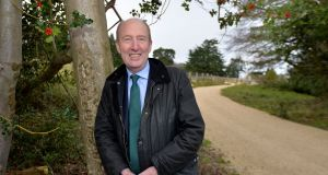 Minister for Transport Shane Ross at Fernhill Gardens, Sandyford in his former constituency. Photograph: Alan Betson