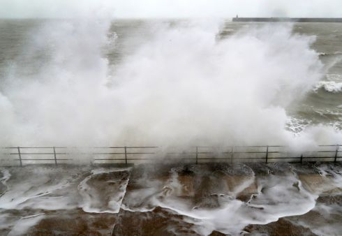 STORM JORGE: Large waves crash over the promenade in Folkestone, Kent, ahead of the arrival of Storm Jorge in the UK and Ireland. Photograph: Gareth Fuller/PA Wire
