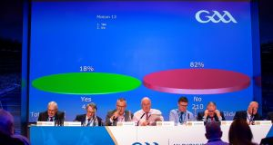 Motion 13 is defeated 82 per cent to 18 per cent at GAA Congress. Photo: Tom O'Hanlon/Inpho