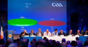 Motion 19 is passedb at GAA Congress in Croke Park. Photo: Tom O'Hanlon/Inpho