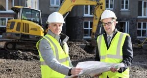 Ark Housing chief executive Jim McShane and Dominic O'Neill, corporate acquisition manager at Danske Bank
