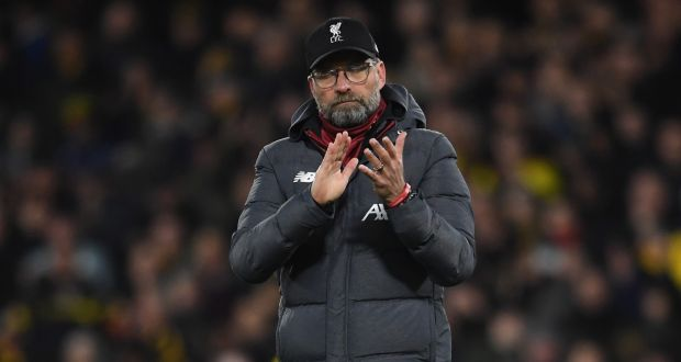 "Juergen Klopp: ""Should I think that just because we want to respond that we shoot Chelsea out of their own stadium? No. It will be a tough game."" Photograph: Andy Rain/EPA"