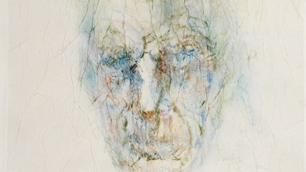 Lot 50 Image of Samuel Beckett, a watercolour on tissue paper by Louis le Brocquy €15,000–€20,000
