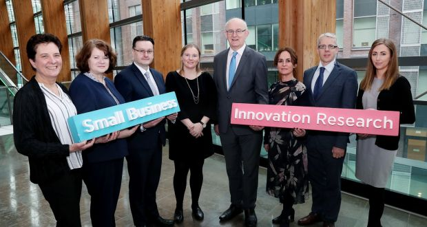 From left: Hilda Dowler, Mater Misericordiae University Hospital; Nuala Nevin, Department of Business, Enterprise and Innovation; David Wall, Tallaght University Hospital; Tom Kelly, Enterprise Ireland; Naomi Rooney, National Transport Authority; Tommy Furey, Marine Institute and Abigail Murphy, Environmental Protection Agency.