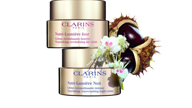 Clarins' Nutri-Lumière range was clinically proven by Clarins Laboratories to increase the skin's luminance after a month's use by 12 per cent.