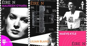 Three of the new stamps celebrating groundbreaking Irish women. Photograph: An Post
